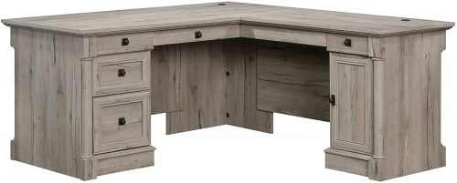 7. Sauder 424811 Palladia L-Desk, Split Oak Finish