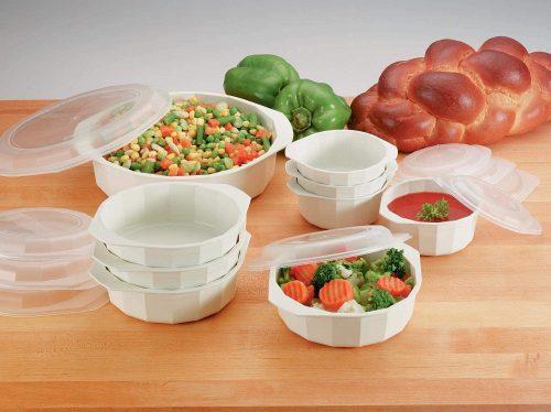 4. LaCuisine KTMW18 18 Piece Microwave Cookware Set, White