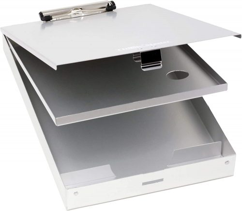 8. Think2Master Aluminum Dual Storage Clipboard