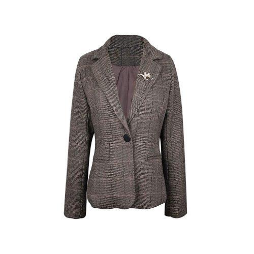 7. NJunicorn Uncle Women's Tweed Casual Blazer Jacket