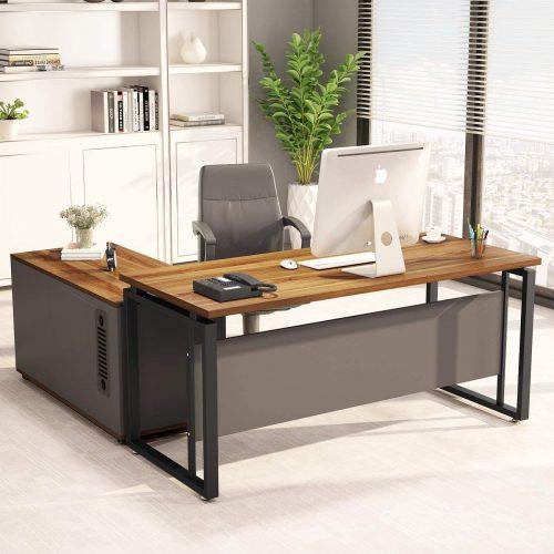 2. LITTLE TREE L-Shaped Computer Desk
