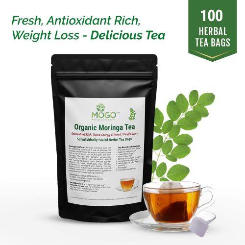 9. Organic Moringa Tea