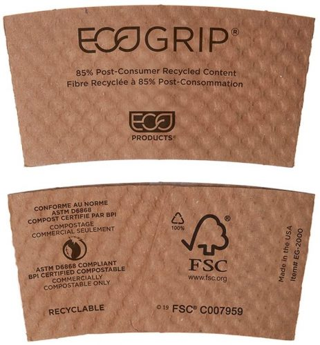 8. Eco-Products EG2000 EcoGrip Hot Cup Sleeves