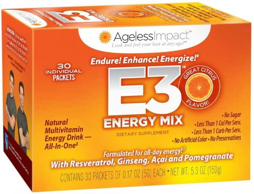 4. e3 Energy Drink Mix | Healthy Energy Drinks