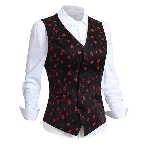 oucome Women's Formal Regular Fitted - Women Suit Vest