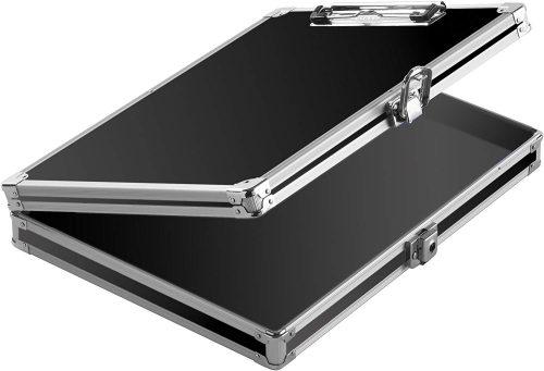1. Vaultz Locking Clipboard with Storage
