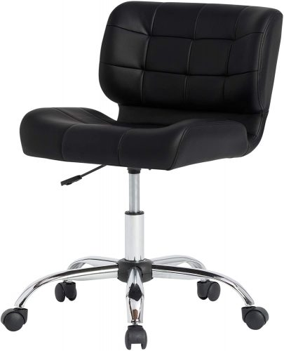 9. Calico Designs Modern Black Crest Armless Office Chair