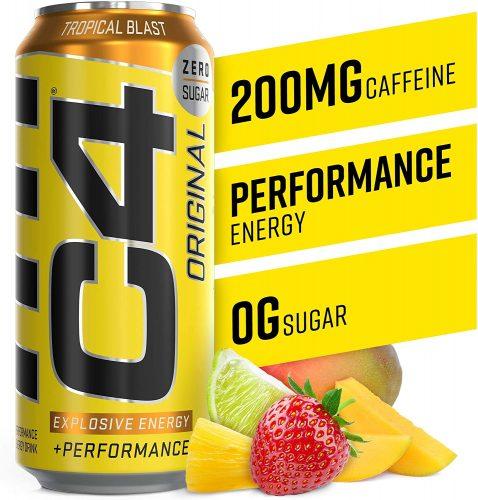 3. C4 Original Sugar-Free Sparkling Energy Drink | Healthy Energy Drinks