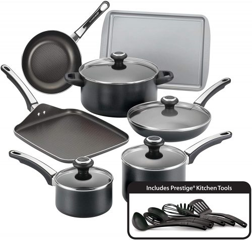 2. Farber ware 21809 High-Performance Non-stick Cookware Pots and Pans Set