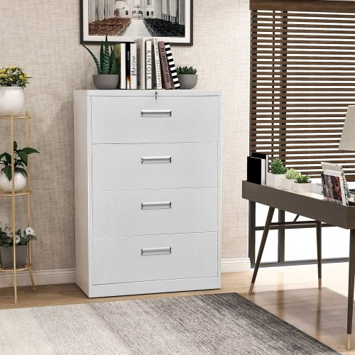 7. 4 Drawer Lateral File Cabinet with Lock