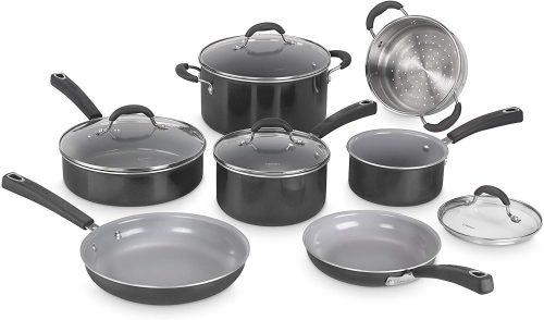 4. Cuisinart 54C-11BK Advantage Ceramica XT Cookware Set