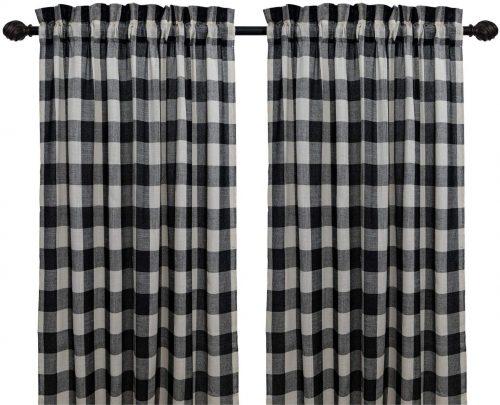 Creativesfun Buffalo Check Plaid Gingham Custom Fit Window Curtain