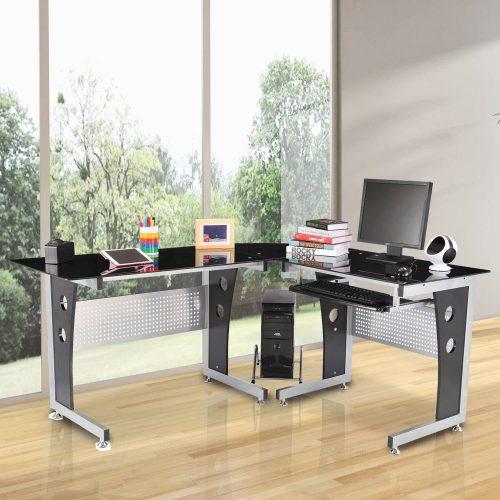 10 Tidyard L-Shaped Corner Computer Desk Gaming Table