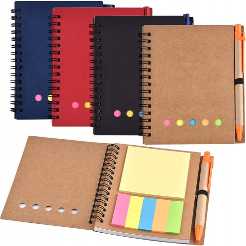 6. Coopay Soft Cover Notebooks Spiral