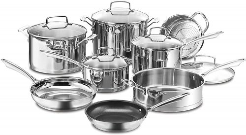 4. Cuisinart 89-13 13-Piece Professional Stainless Cookware Set