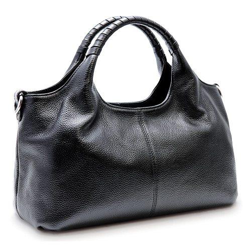 4. Iswee Women's Genuine Leather Handbag