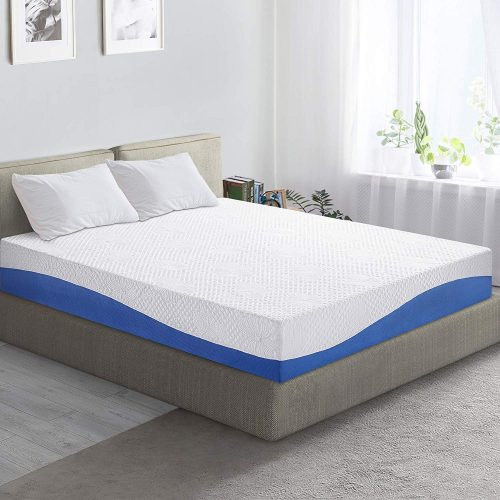 7. PrimaSleep Wave Gel Infused Memory Foam Mattress, 10'' H, Full, | Platform Bed MattressesBlue