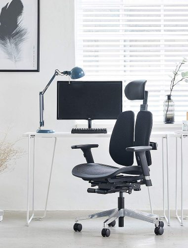 8. Duorest Alpha, Executive Office Chair with Mesh Seat | Comfortable Office Chairs