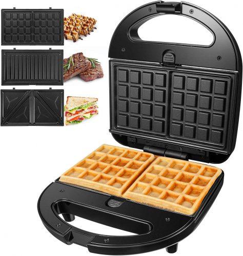 4. OSTBA Sandwich Maker 3-in-1 Waffle Iron