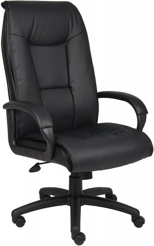 2. Boss Office Products Executive LeatherPlus Chair | Comfortable Office Chairs