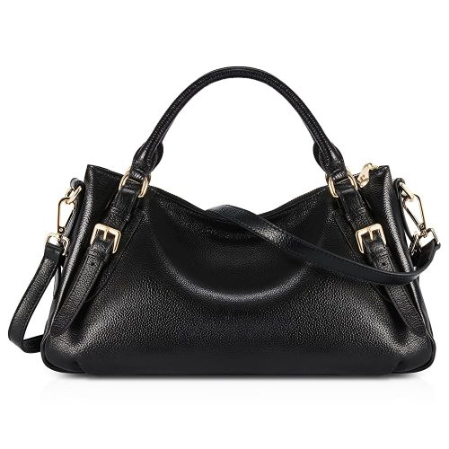9. Kattee Women's Soft Genuine Leather Crossbody Bag