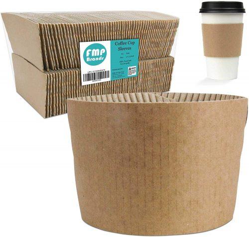 7. Kraft Coffee Cup Sleeves