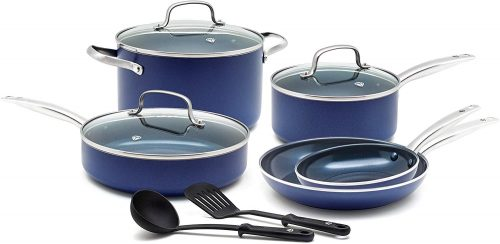 9. Blue Diamond CC001602-001 Toxin Free Ceramic Non-stick Cookware Set