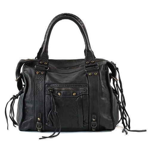 7. Women Top Handle Leather Bag