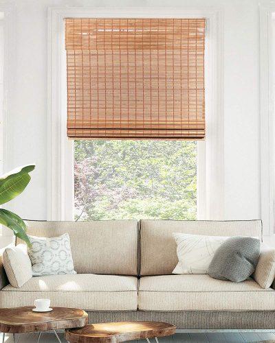 CHICOLOGY Cordless Bamboo Roman Shades