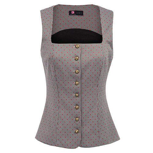 KANCY KOLE Women's Vest Vintage Waistcoat Button