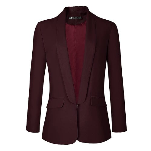 6. Urban CoCo Women's Office Blazer Jacket Open Front | Red Blazers For Women