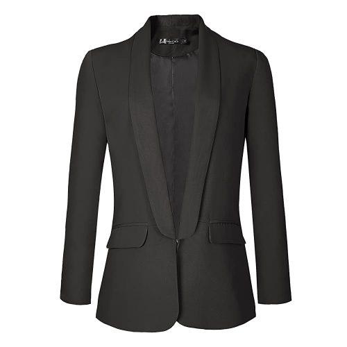 10. Urban Coco Women's Office Blazer Jacket Open Front | Black Blazer For Women