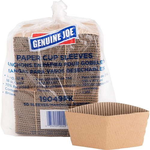 10. Genuine Joe GJO19049PK Protective Corrugated Cup Sleeve