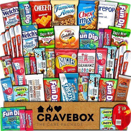 7. CraveBox Care Package Snacks Food Cookies Chocolate Bar