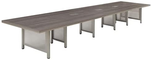 9. at Work Expandable Conference Table 19' Warm Ash Laminate