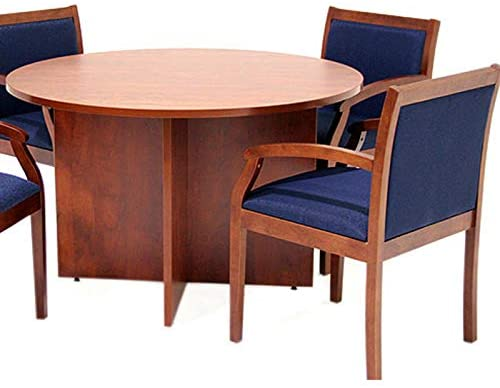 9. Office Pope Value Round Conference Room Table & Chairs Set