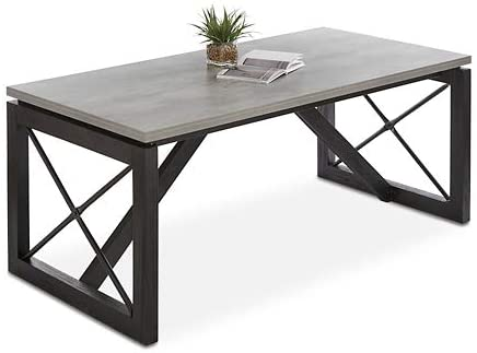 "2. Urban Conference Table 72""W x 36""D Concrete Laminate Top/Black Base"