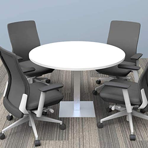 7. 4 Person Conference Table with Square Metal Base