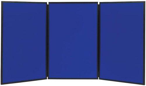 7. Quartet 3-Panel 6x3 feet Fabric Bulletin Board