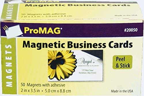 6. ProMAG 2 x 3-1/2 Inches Adhesive Business Card Magnets