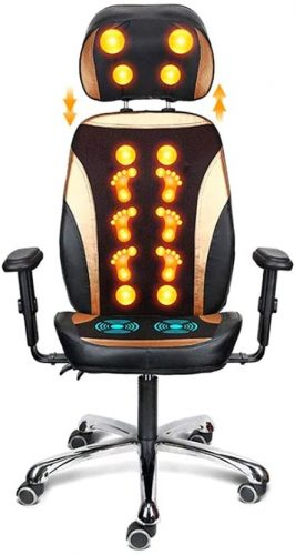 3. SMLCTY Executive Office Chair,with Massage Office Chair - Heated Office Chair