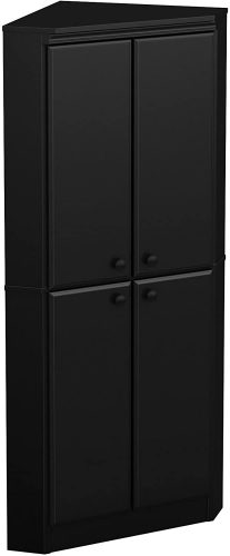 8. South Shore 4-Door Corner Kitchen Cabinet