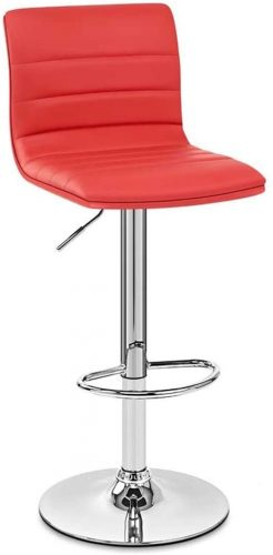 2. LIXBD Furniture Stool/Modern High Stool with Back Support Bar
