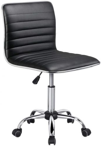 4. Yaheetech Adjustable Task Chair PU Leather Low Back