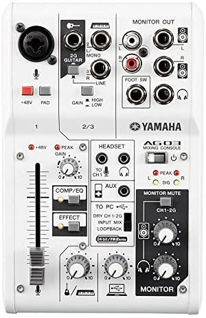 7. Yamaha AG03 Channel Mixer