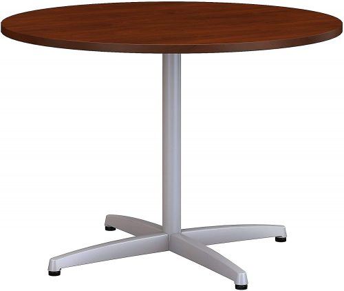 "5. Bush Business 42"" Round Metal Base Conference"