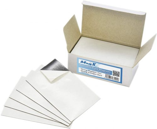 8. MagX Magnetic Business Card with Adhesive