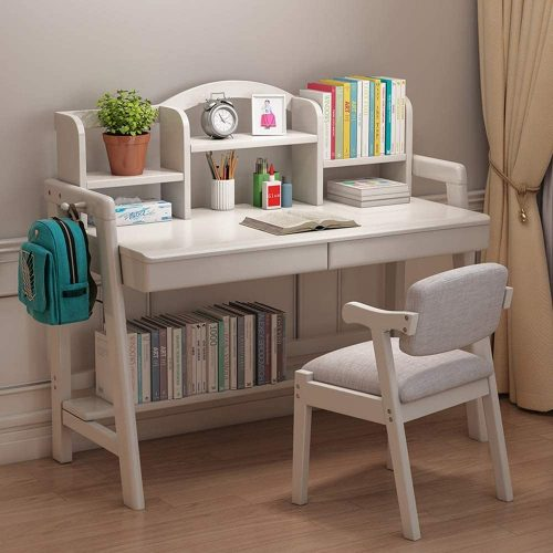 3. Zhouminli Kids' Desk & Chair Sets Child's Wood Desk