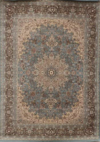 8. New City Light Blue Silver Traditional Isfahan Wool