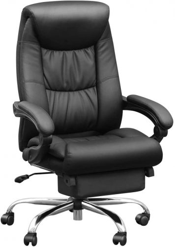 1. Duramont Reclining Leather Office Chair